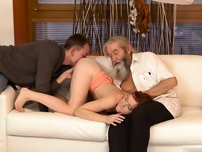 Two old granny s and man fucks chubby tits milf Unexpected