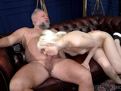 First time this anorectic chick gets say no to hands on a experienced dick