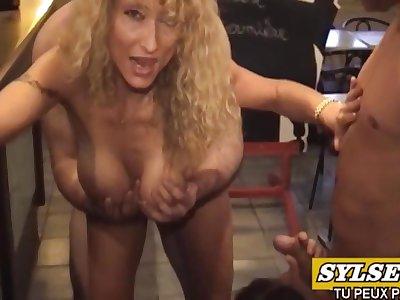 2 Soiled Moms Suck Cocks In Restaurant