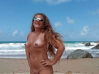 married showing elsewhere at Pinho beach in Santa Catarina Brazil naturism and nudism