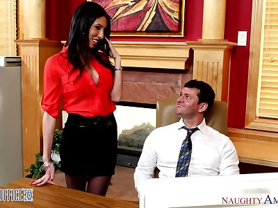 Sexy and voluptuous CA Dava Fox seduces one of her co-workers
