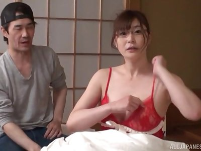 Amateur shagging at one's fingertips home with natural boobs Japanese Aoi Yurika