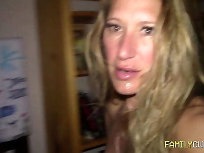 Stepmom Gangbang
