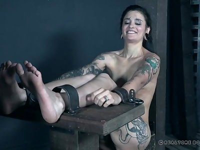 Two kinky girls subjected to BDSM pleasure