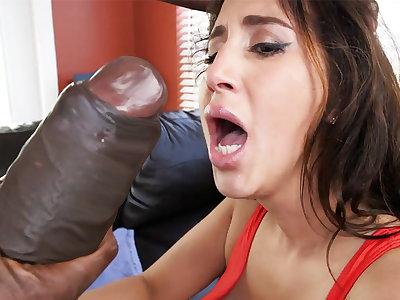 Latina rescuer get an orgasm detach from monster dick