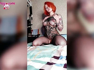 Big Ass Redhead Girl in Sexy Lingerie - Compilation