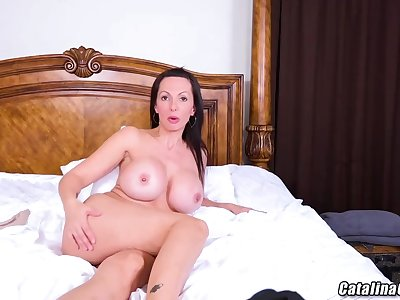 Catalina Cruz is making a new web cam show and proudly showing say no to massive milk titties