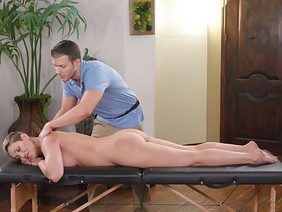 Handsome massage boy tries about impress bossy cougar Ryan Keely